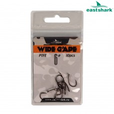 Крючки тефлон EastShark WIDE GAPE №6 (уп.10шт.)