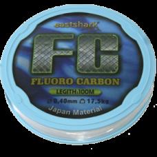 Леска FC 0.18 100м fluorocarbon прозрачная (4,55 кг)