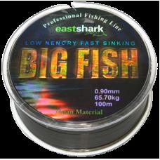 Леска BIG Fish 0.8 100м чёрная (54,4 кг)