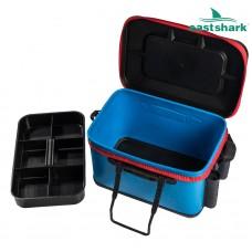Ящик рыболовный с держателями удилищ размер М (цвет в ассортименте)